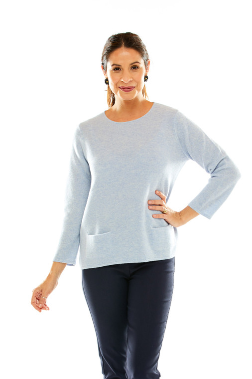 Cashmere Swing Pullover With Pockets