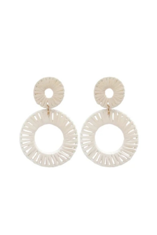 Calypso Raffia Circle Earrings