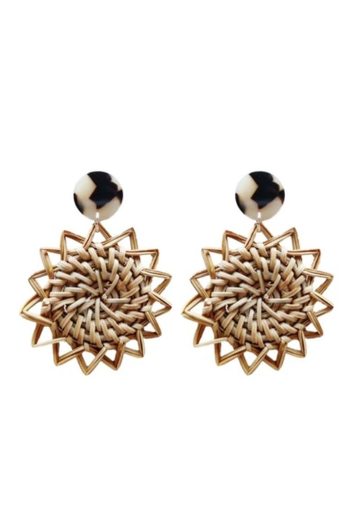Sunburst Rattan Earrings