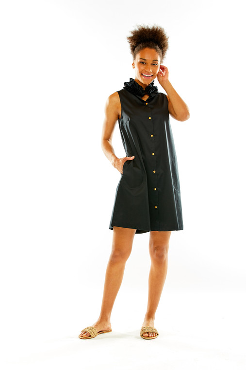 The Kaylie Dress With Wood Buttons