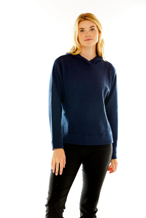 Hooded Cashmere Pullover
