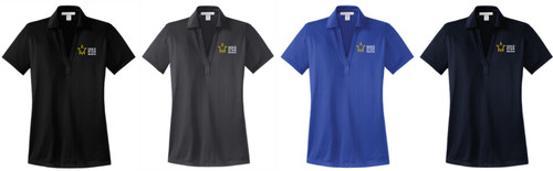 Gold Star Mission Ladies Performance Fine Jacquard Polo