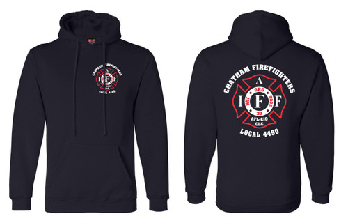 Chatham Firefighters Local 4490 USA Made Hooded Sweatshirt
