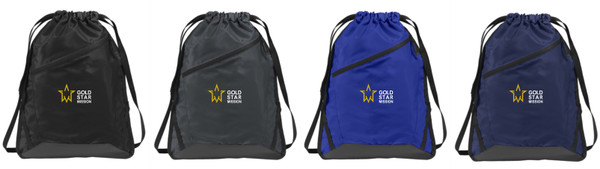 Gold Star Mission Zip-it Cinch Pack
