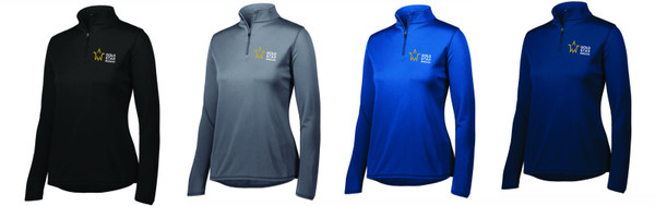 Gold Star Mission Ladies Attain Wicking 1/4 Zip Pullover