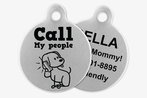 Call My People - Stick Dog Pet Tag