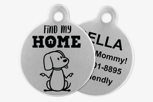 Find My Home - Stick Dog Pet Tag
