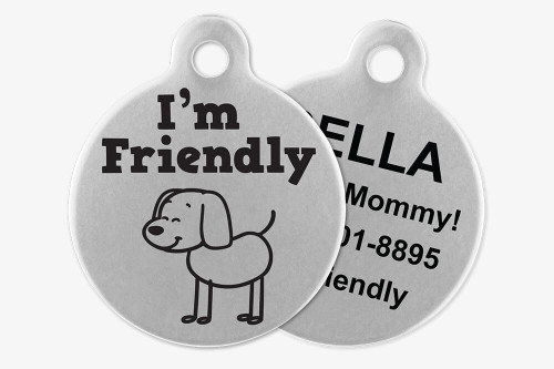 I'm Friendly - Stick Dog Pet Tag