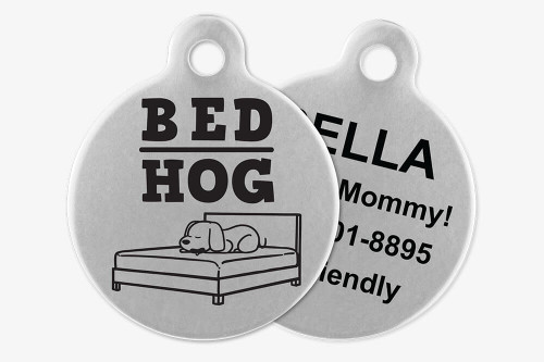 Bed Hog - Stick Dog Pet Tag
