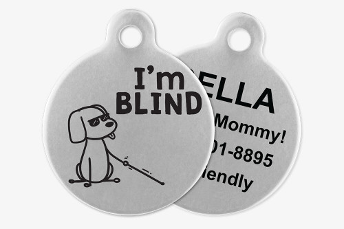 I'm Blind - Stick Dog Pet Tag