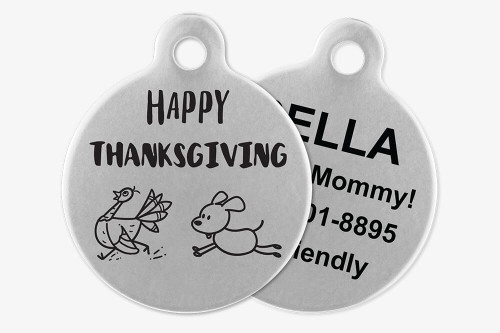 Happy Thanksgiving - Stick Dog Pet Tag