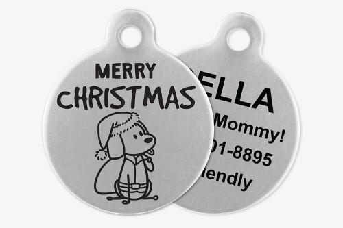 Merry Christmas (Santa) - Stick Dog Pet Tag