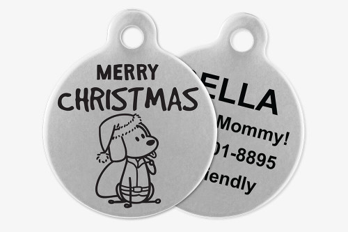 Merry Christmas (Santa) - Stick Dog Pet Tag