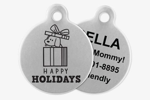 Happy Holidays - Stick Dog Pet Tag
