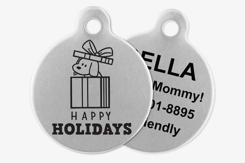 Happy Holidays - Stick Dog Pet Tag