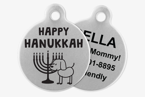 Happy Hanukkah - Stick Dog Pet Tag