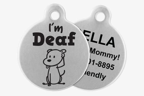 I'm Deaf - Stick Dog Pet Tag