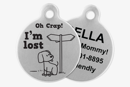 Oh Crap! I'm Lost - Stick Dog Pet Tag
