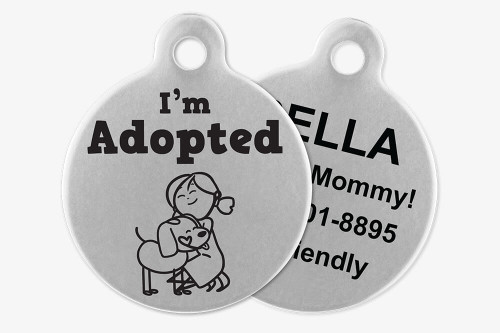 I'm Adopted - Stick Dog Pet Tag