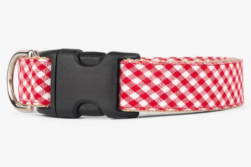 Red Gingham Dog Collar