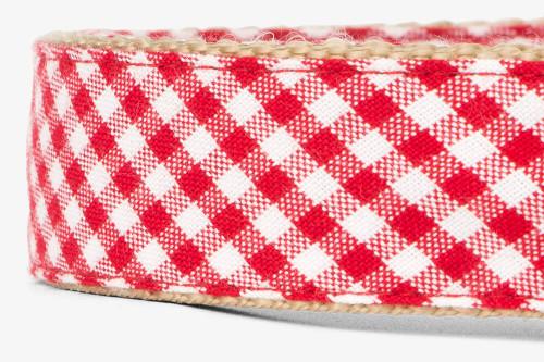 Red Gingham Dog Leash