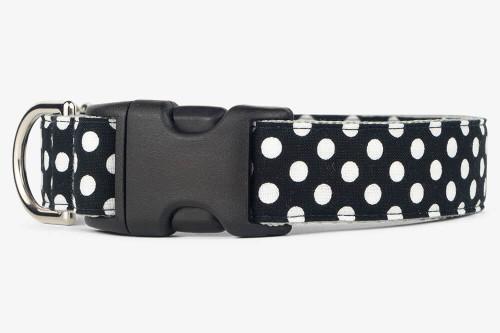 Black Dots Dog Collar