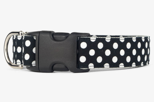 Black Dots Dog Collar