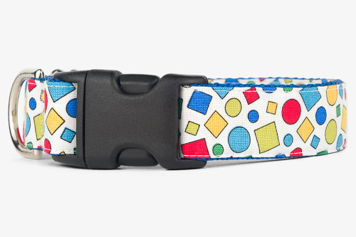 Geometric Colors Dog Collar