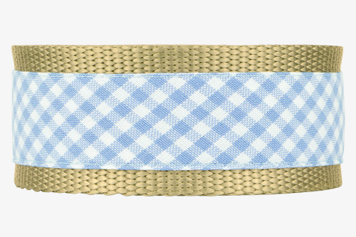 Periwinkle Gingham Dog Collar