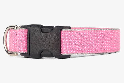 Pink Pin Dots Dog Collar