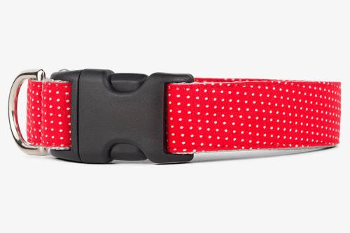 Red Pin Dots Dog Collar