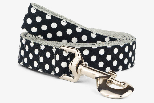 Black Dots Dog Leash