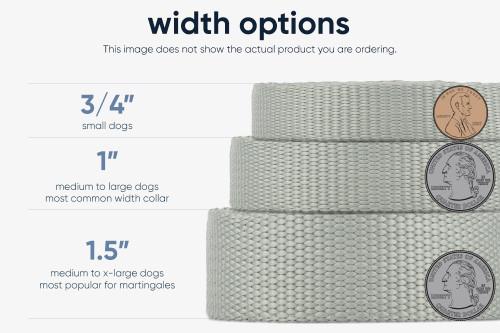 Navy Dots Fabric Dog Leash