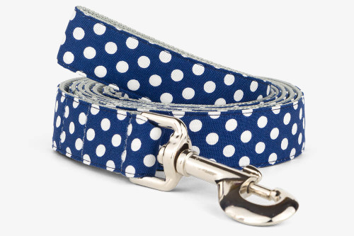 Navy Dots Dog Leash