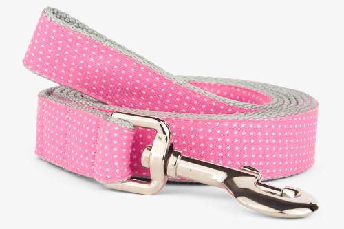 Pink Pin Dots Dog Leash