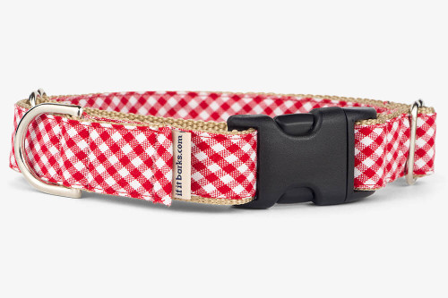 Red Gingham Patterned Fabric Martingale