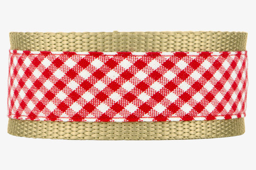 Red Gingham Fabric Martingale