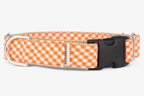 Orange Gingham Patterned Fabric Martingale