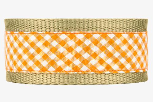 Orange Gingham Patterned Fabric Martingale