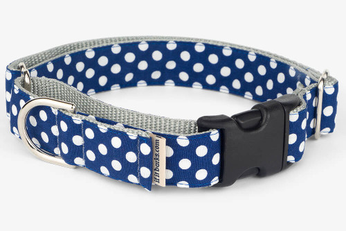 Navy Dots Fabric Martingale