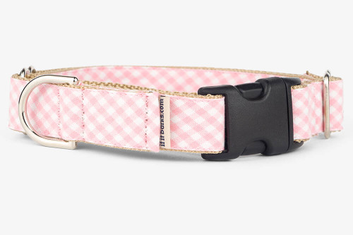 Pink Gingham Fabric Martingale