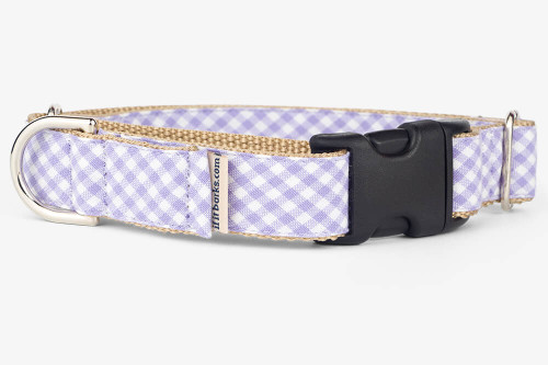 Lavender Gingham Patterned Fabric Martingale