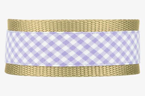 Lavender Gingham Fabric Martingale