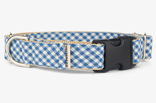 Denim Gingham Patterned Fabric Martingale