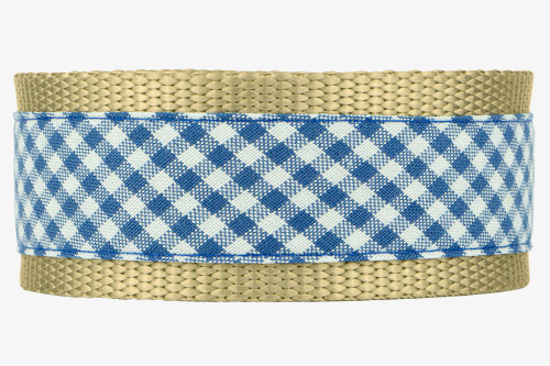 Denim Gingham Patterned Fabric Martingale