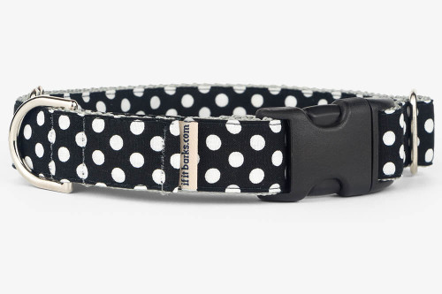 Black Dots Patterned Fabric Martingale