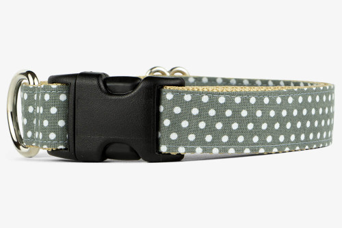 Gray Mini Dots Dog Collar