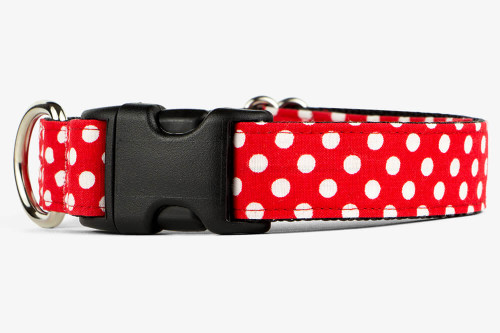 Red Mini Dots Dog Collar