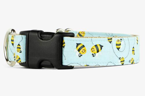 Blue Bees Dog Collar