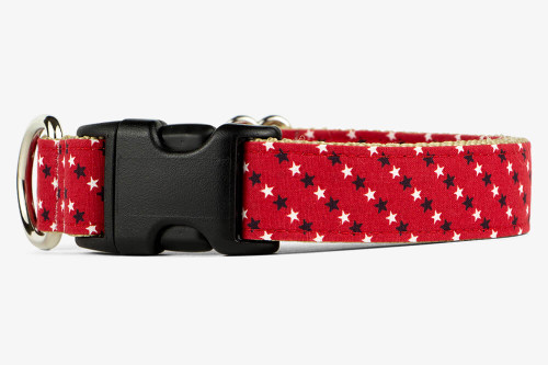 Red, White, Blue Stars Dog Collar